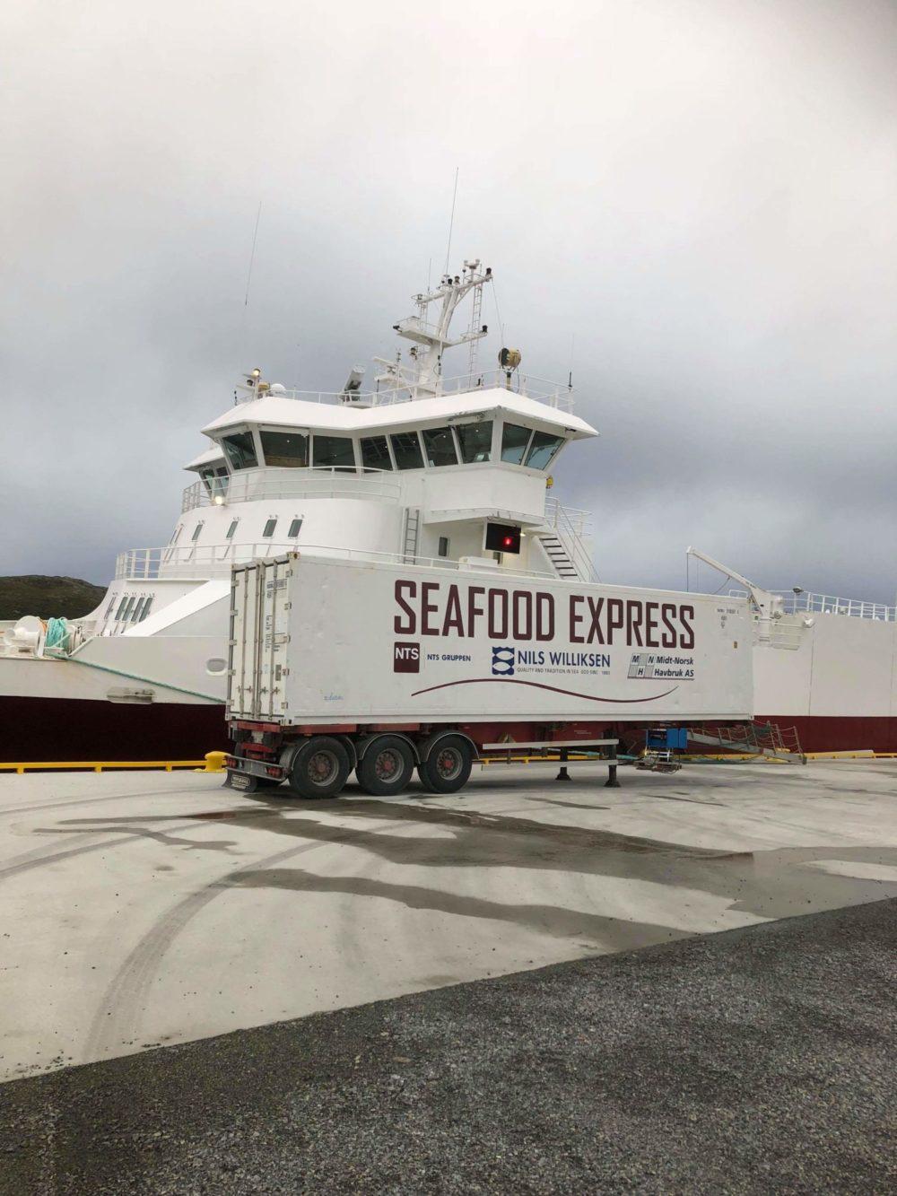 Fraktet laks sjøveien fra Trøndelag til Nederland